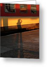 Shadows On The Platform 2 Greeting Card