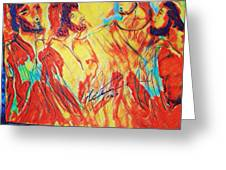 Shadrach, Meshach And Abednego In The Fire With Jesus Greeting Card