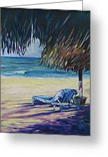 Shady Beach Greeting Card