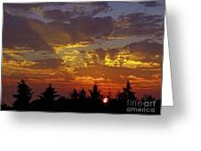 Shafts Of Fading Light Greeting Card