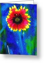 Shaggy Moon For A Shaggy Flower Greeting Card