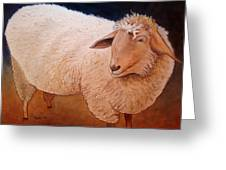 Shaggy Sheep Greeting Card