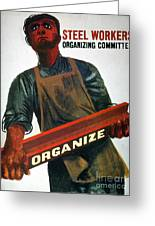 Shahn: Steel Union Poster Greeting Card