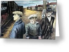 Shahn: Three Men Greeting Card