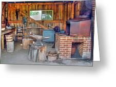 Shaker Blacksmith Barn Greeting Card