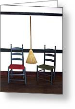 Shaker Chairs And Broom Greeting Card