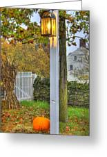 Shaker Fall Decor Greeting Card