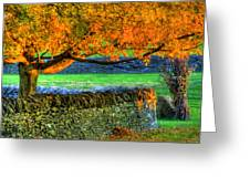 Shaker Stone Fence 1 Greeting Card