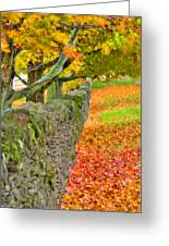 Shaker Stone Fence 3 Greeting Card