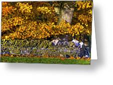 Shaker Stone Fence 4 Greeting Card