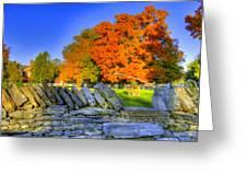 Shaker Stone Fence 7 Greeting Card