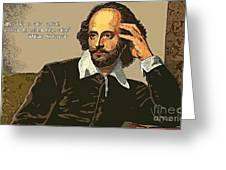 Shakespeare Quote Ten Greeting Card