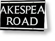 Shakespeare Road Uk Greeting Card