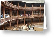 Shakespeare's Globe Theater C378 Greeting Card by Charles  Ridgway