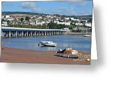 Shaldon Bridge Greeting Card