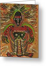 Shaman Says Walk Softly And Carry A Big Schtik Greeting Card