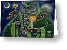 Shaman's Moon Greeting Card