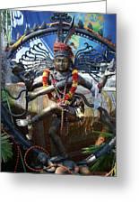 Shambu Greeting Card by John Loyd Rushing