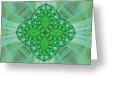 Shamrock In Abstract Greeting Card