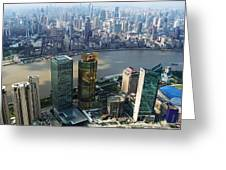 Shanghai By The River Greeting Card