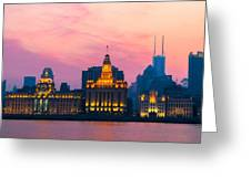 Shanghai Sunset Greeting Card
