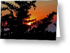 Shangrila Sunset Greeting Card