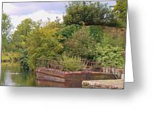 Shannon River Barge Greeting Card