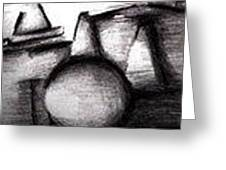 Shapes In Black And White Greeting Card