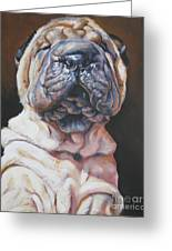 Shar Pei Pup Greeting Card