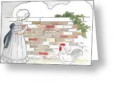 Shara And The Rooster Greeting Card