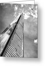 Shard, London In Black And White  Greeting Card