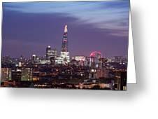Shard Oxo Tower London Eye Walkie Talkie From Balfron Tower Greeting Card