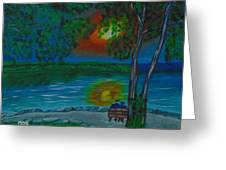 Shared Sunset Hamilton  Greeting Card