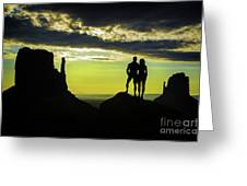 Sharing A Monument Valley Sunrise Greeting Card