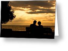Sharing A Sunset Greeting Card