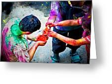 Sharing Colors Sharing Happiness Greeting Card