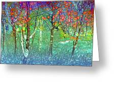 Sharing Colours And Dreams Greeting Card