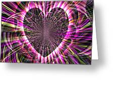 Sharing Heart With Gladness Greeting Card