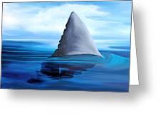 Shark Fin Greeting Card