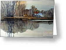 Shark River Reflections Greeting Card
