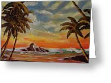 Sharks Cove North Shore Oahu #394 Greeting Card