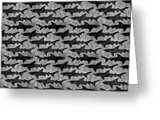 Sharks In Gray And Black Greeting Card