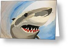 Sharky Grin Greeting Card