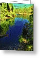 Shasta's Still Waters Greeting Card