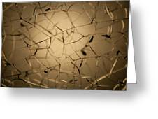 Shattered Gold Greeting Card