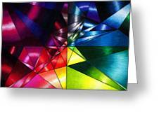 Shattered Rainbow Triangles Optical Art Greeting Card