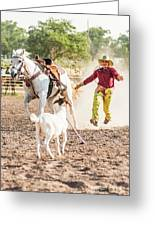 Shawnee Sagers Goat Roping Competition Greeting Card