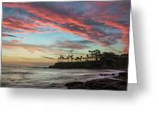 Shaws Cove Laguna Beach Greeting Card