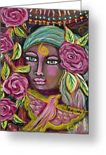 She Grows Beauty Greeting Card