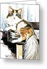 She Has Got The Look - Cat Portrait Greeting Card